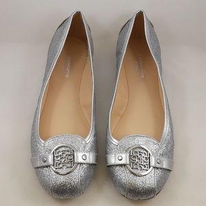 Liz Claiborne Iris Silver Ballet Flats Size 7.5W